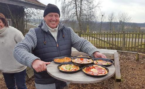 Pizzabacken an der Ostsee