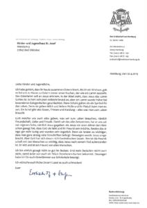 Brief des Erzbischofs zu Ostern