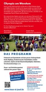 Sommer-Spiele-Fest mit Flohmarkt am Samstag, den 24. August 2019