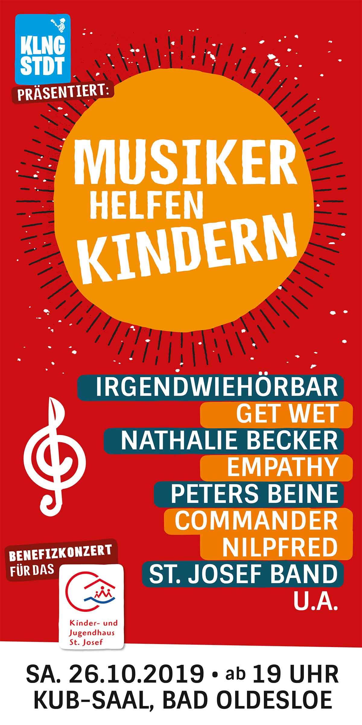 Musiker helfen Kindern - Benefizabend am 26.10.2019