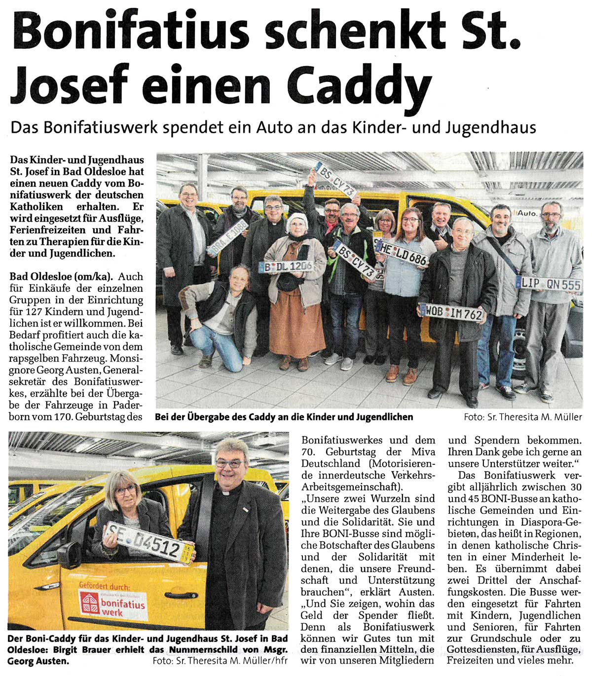 Ein Caddy vom Bonifatiuswerk für Bad Oldesloe
